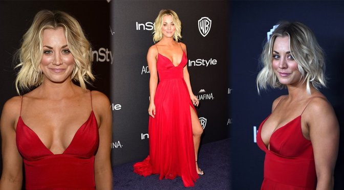 Kaley Cuoco – InStyle And Warner Bros. Golden Globe Awards Post-Party