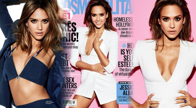 Jessica Alba – Cosmopolitan UK Magazine (April 2016)