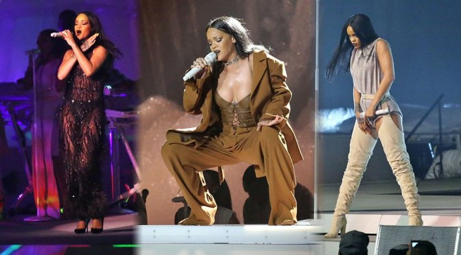 Rihanna Performa Live in Vancouver