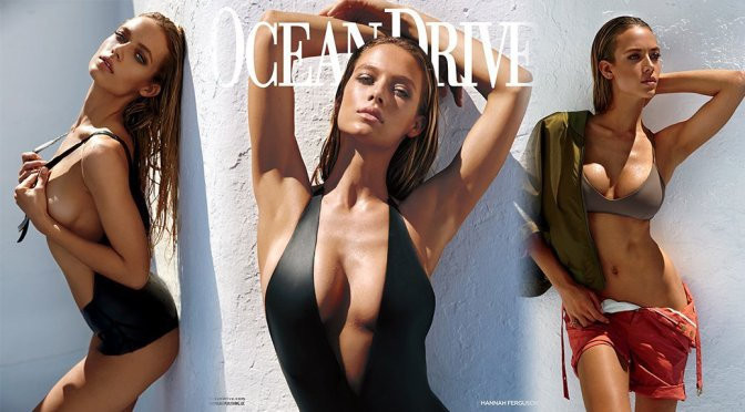 Hannah Ferguson – Ocean Drive Magazine Photoshoot (Summer 2016)