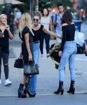 Kendall Jenner - Braless See-Through Candids in New York