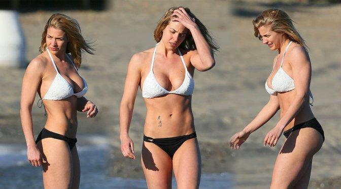 Gemma Atkinson – Bikini Candids in Marbella
