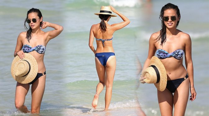 Jamie Chung – Bikini Candids in Miami
