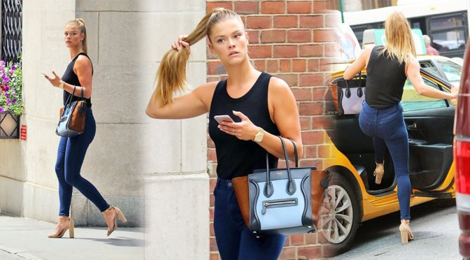 Nina Agdal – Candids in New York