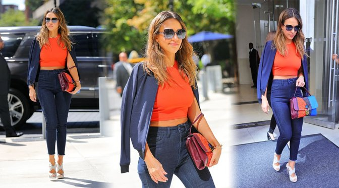 Jessica Alba – Candids in New York