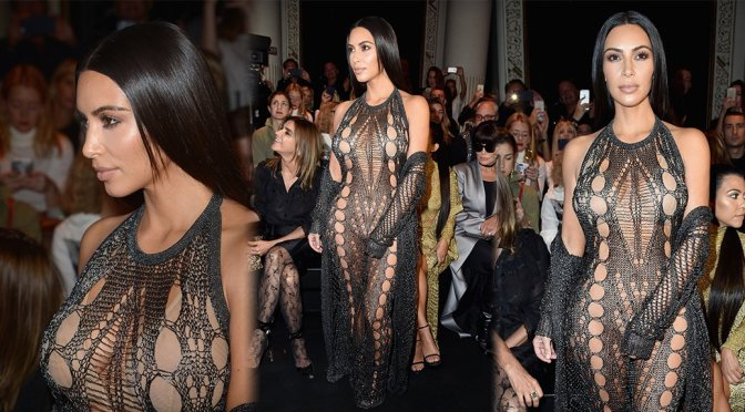 "Kim Kardashian – ""Balmain"" Fashion Show in Paris"