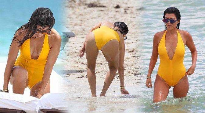 Kourtney Kardashian – Swimsuit Candids in Miami