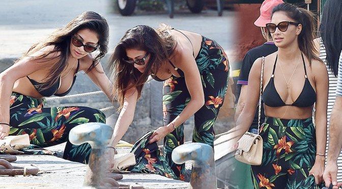 Nicole Scherzinger – Bikini Candids in Portofino