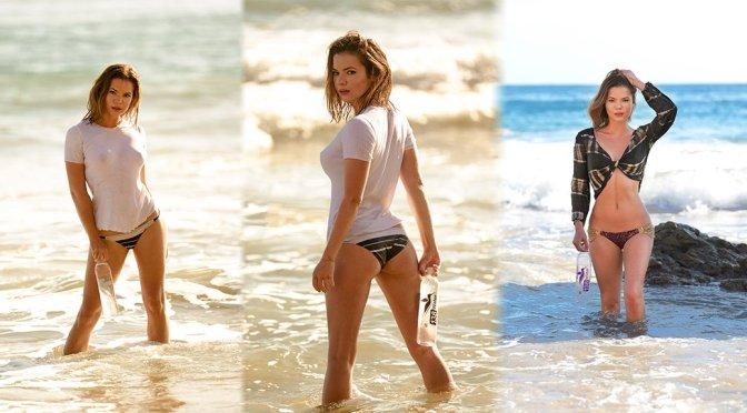 "Kaili Thorne – ""138 Water"" Photoshoot Candids in Malibu"