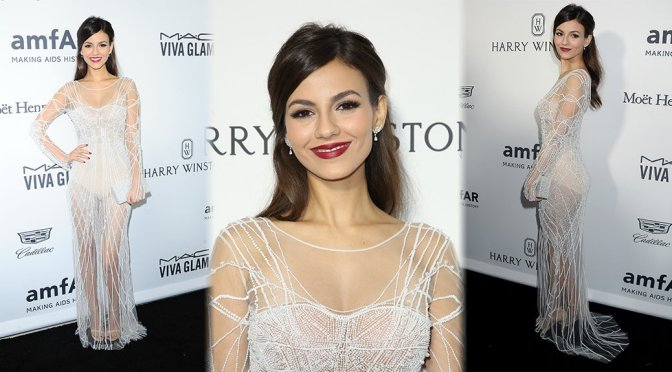 Victoria Justice – amfAR's Inspiration Gala in Hollywood