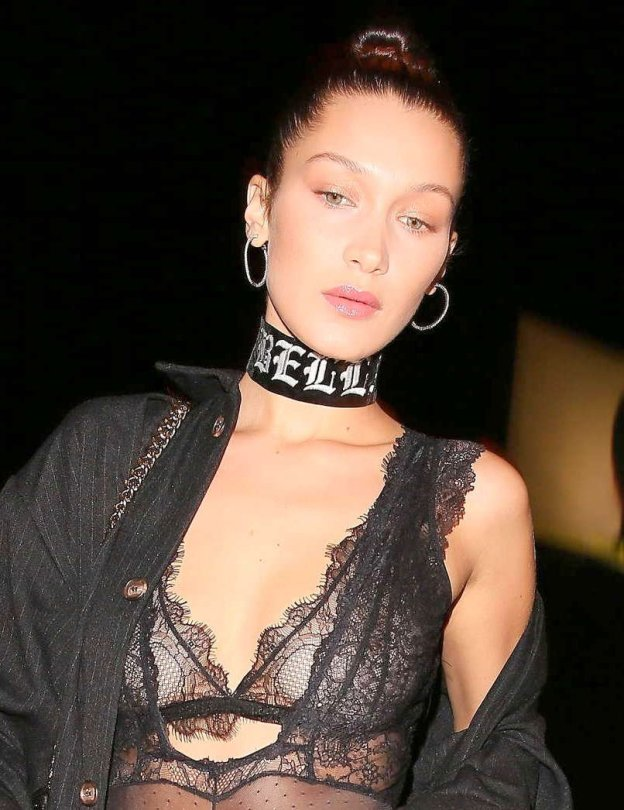 Bella Hadid - See-Through Candids in West Hollywood