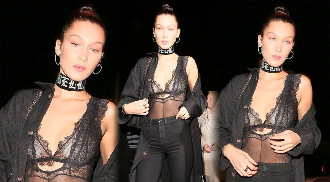 Bella Hadid – See-Through Candids in West Hollywood