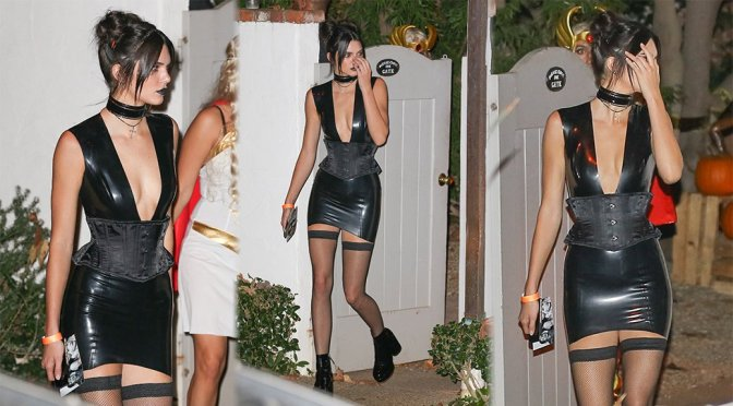 Kendall Jenner - Halloween Party in Hollywood