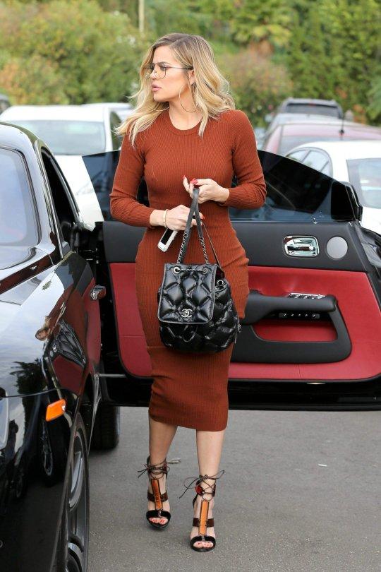 Khloe Kardashian - Braless Candids in Beverly Hills
