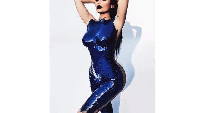 Kylie Jenner – Bodypaint Photoshoot by Sasha Samsonova