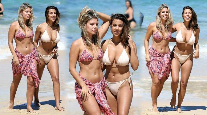 Natasha Oakley & Devin Brugman - Bikini Candids in Sydney