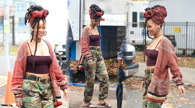"Rihanna on ""Ocean's Eight"" Movie Set in New York"