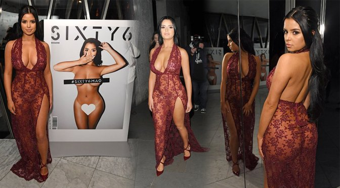 Demi Rose - Sixty6 Magazine Launch Party in London