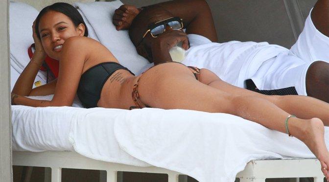 Karrueche Tran – Bikini Candids in Miami