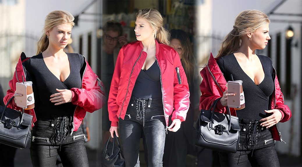 Charlotte McKinney - Cleavage Candids in Studio City