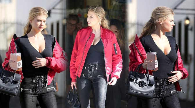 Charlotte McKinney – Cleavage Candids in Studio City