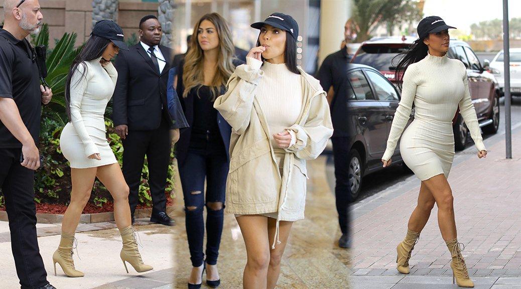Kim Kardashian - Candids in Dubai
