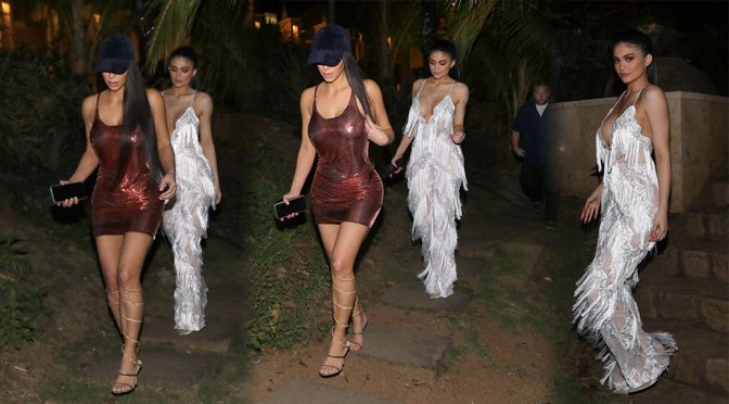 Kim Kardashian In Doorschijn Jurk In Costa Rica