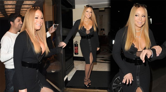 Mariah Carey – Cleavage Candids in London