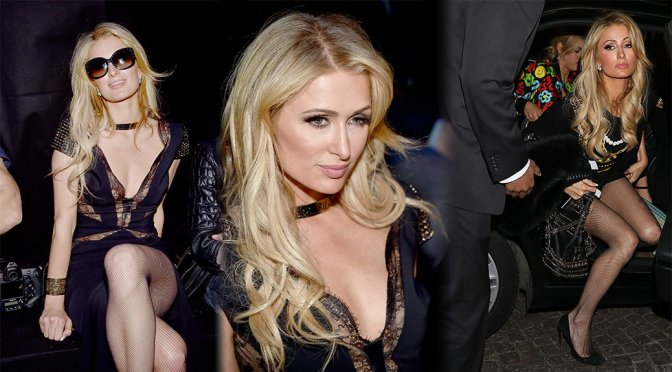 "Paris Hilton – ""Moschino"" Fashion Show in Milan"
