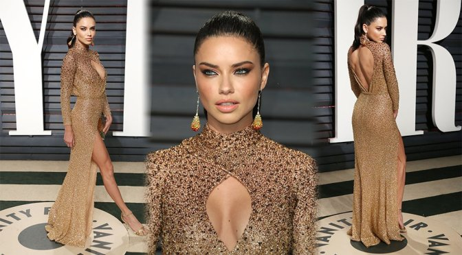 Adriana Lima – 2017 Vanity Fair Oscar Party in Beverly Hills