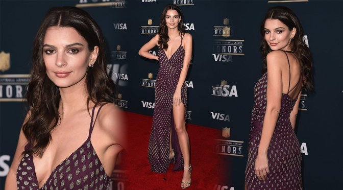 Emily Ratajkowski – 6th Annual NFL Honors in Houston