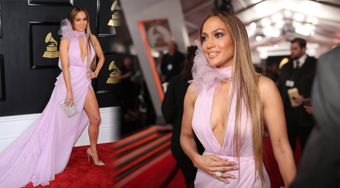 Jennifer Lopez – 59th Grammy Awards in Los Angeles