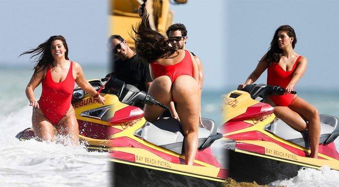 Ashley Graham – Swimsuit Photoshoot Candids in Miami