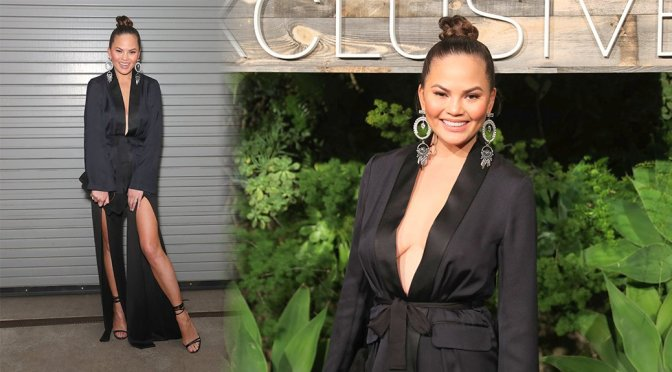 Chrissy Teigen – H&M Conscious Exclusive Collection Dinner in Los Angeles