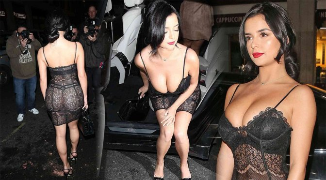 Demi Rose – See-Through Candids in London