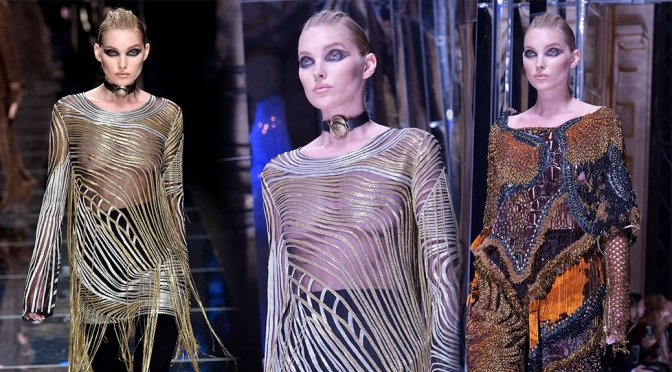 Elsa Hosk – Balmain Fashion Show in Paris