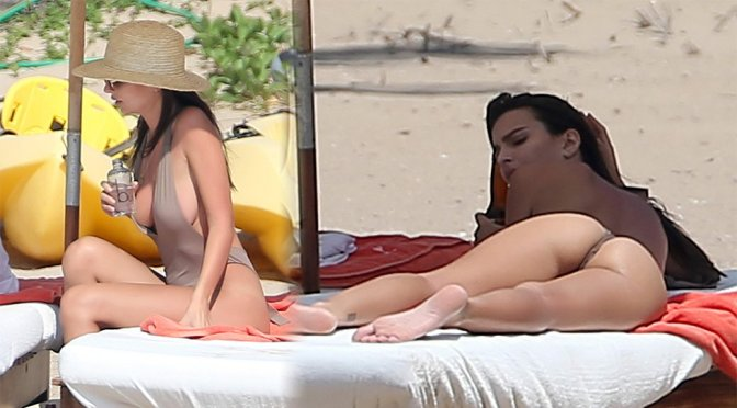 Emily Ratajkowski – Swimsuit Candids in Mexico