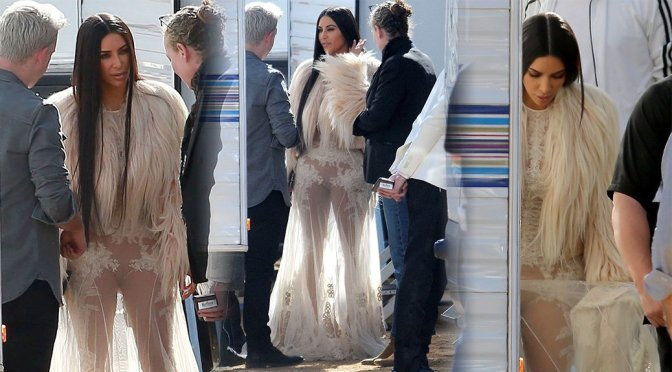 "Kim Kardashian on ""Ocean's Eight"" Movie Set in Los Angeles"