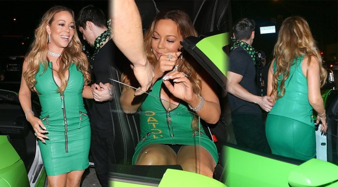 Mariah Carey – Upskirt Candids in Los Angeles