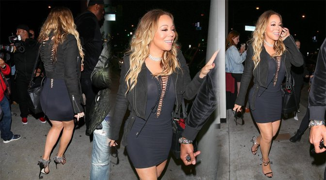 Mariah Carey – Braless See-Through Candids in West Hollywood