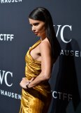 Adriana Lima sexy in gold dress at IWC Schaffhausen 5th Annual For the Love of Cinema Gala, Tribeca FF in NYC