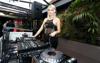 Ashley James as DJ at Boux Avenue's Spring and Summer 2017 Launch in London