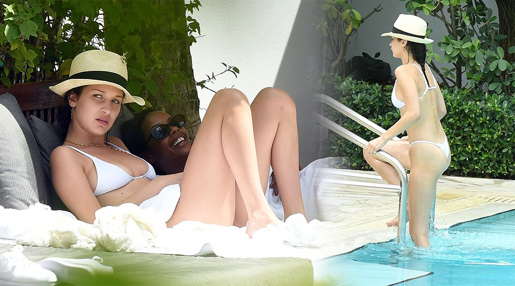 Bella Hadid - Bikini Candids in Miami