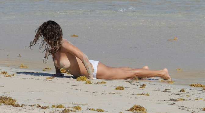 Brooke Burke – Topless Candids in St. Barths (HQ)