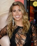 Kara Del Toro flaunt her breasts wearing low cut black dress