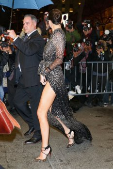 Kendall Jenner leggy at Harper's & Tiffany & Co. Celebrate 150 Years of Women & Fashion in NYC
