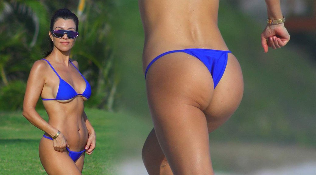 Kourtney Kardashian - Bikini Candids in Mexico