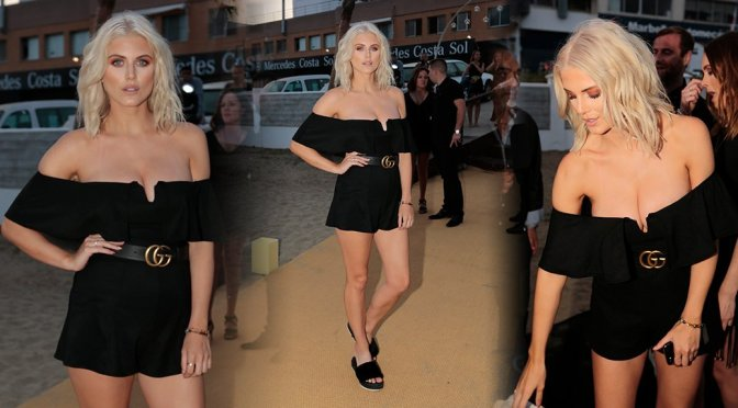 Ashley James – Playa Padre Opening in Marbella