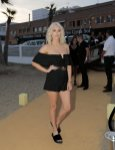 Ashley James sexy legs and cleavage at Playa Padre opening in Marabella