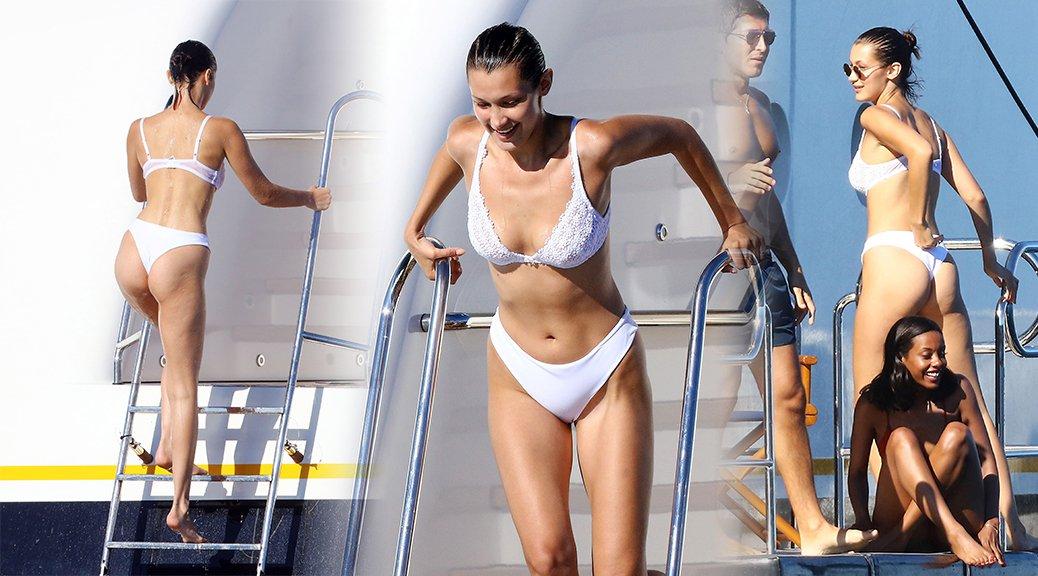 Bella Hadid - Bikini Candids in Cannes